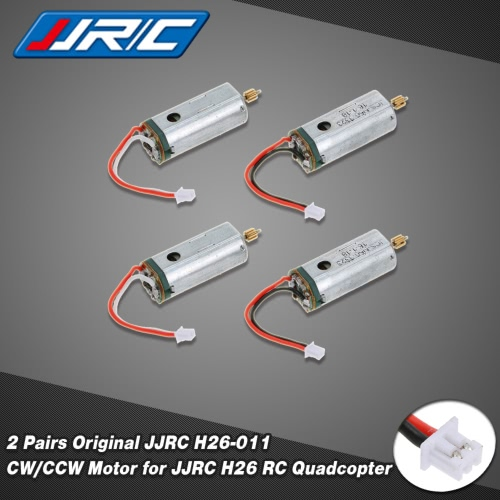 2 Pairs Original JJRC H26-011 CW/CCW Motor for JJRC H26 RC QuadcopterJJRC Multirotors Parts<br>2 Pairs Original JJRC H26-011 CW/CCW Motor for JJRC H26 RC Quadcopter<br><br>Blade Length: 6.0cm