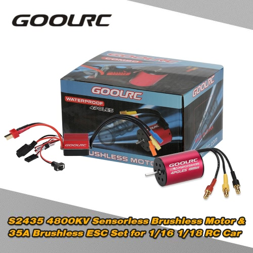 Original GoolRC S2435 4800KV Sensorless Brushless Motor and 35A Brushless ESC Combo Set for 1/16 1/18 RC Car Truck ?????????Other Toys<br>Original GoolRC S2435 4800KV Sensorless Brushless Motor and 35A Brushless ESC Combo Set for 1/16 1/18 RC Car Truck ?????????<br><br>Blade Length: 10.0cm