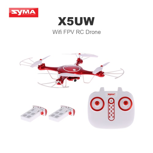 Original Syma X5UW Wifi FPV Quadcopter 720P HD Camera RC Drone with Two Battery RTF
