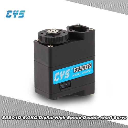 Original CYS S8801D 6kg/0.10sec Digital High speed Double-shaft Servo for RC RobotServo<br>Original CYS S8801D 6kg/0.10sec Digital High speed Double-shaft Servo for RC Robot<br><br>Blade Length: 7.0cm