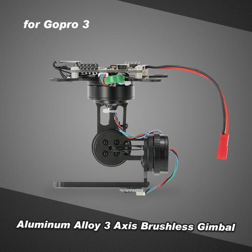Aluminum Alloy 3 Axis Brushless Gimbal with Storm32 BGC Control Panel for Gopro 3 4 DJI F450 F550 Cheerson CX-20 Aerial PhotographyFPV Gimbal<br>Aluminum Alloy 3 Axis Brushless Gimbal with Storm32 BGC Control Panel for Gopro 3 4 DJI F450 F550 Cheerson CX-20 Aerial Photography<br><br>Blade Length: 10.0cm