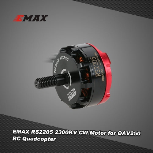 Original EMAX RS2205 2300KV CW Brushless Motor for QAV210 QAV250 H250 RC FPV Quadcopter Racing DroneMotor<br>Original EMAX RS2205 2300KV CW Brushless Motor for QAV210 QAV250 H250 RC FPV Quadcopter Racing Drone<br><br>Blade Length: 10.7cm