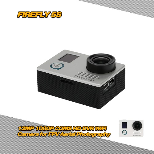 Firefly 5S 12MP 1080P COMS HD DVR WiFi Camera with LED Display Screen for FPV Aerial Photography RM3986