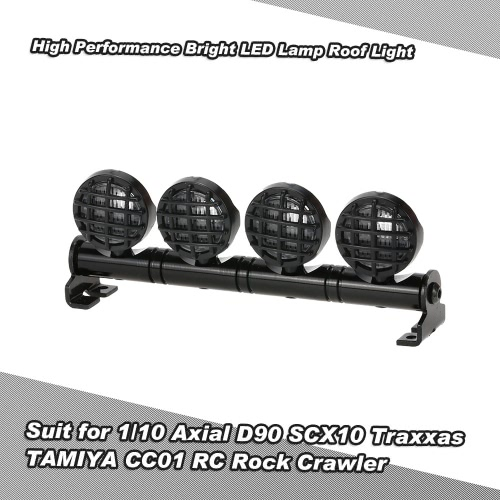 Buy High Performance Bright LED Lamp Roof Light Search 1/10 HSP TAMIYA RC4WD Axial D90 SCX10 Traxxas CC01 RC Rock Crawler