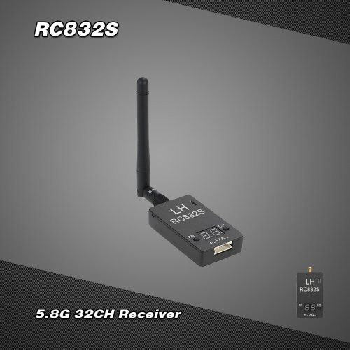 RC832S Upgraded Version 5.8G 32CH Wireless Image Transmission Receiver for FPV Aerial Photogaraphy RM5137