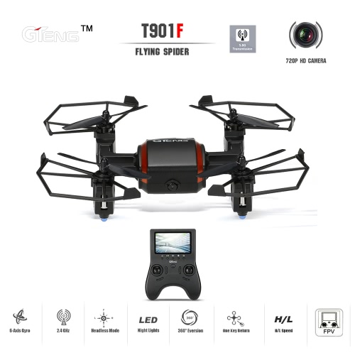 GTeng T901F Flying Spider 5.8G FPV RC Quadcopter with 720P HD CameraRC Quadcopter<br>GTeng T901F Flying Spider 5.8G FPV RC Quadcopter with 720P HD Camera<br><br>Blade Length: 41.5cm