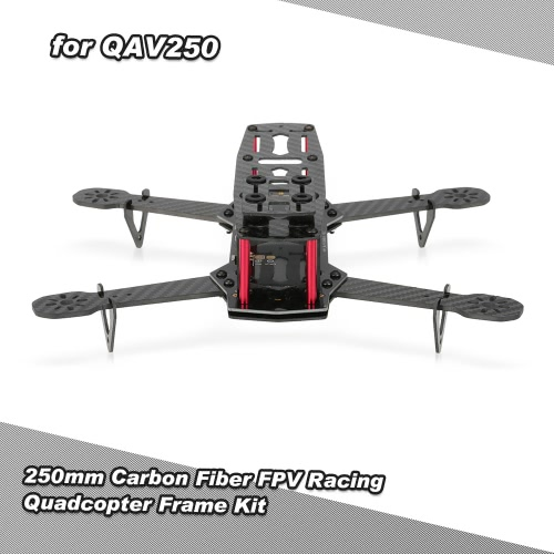 250mm Carbon Fiber FPV Racing Quadcopter Frame Kit with PDB LED Lights for QAV250 ZMR250