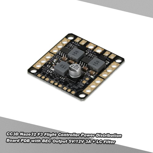 Power Distribution Board PDB with BEC Output 5V 12V 3A LC Filter for FPV CC3D Naze32 F3 Controller RC QuadcopterMulticopter Electronic Parts<br>Power Distribution Board PDB with BEC Output 5V 12V 3A LC Filter for FPV CC3D Naze32 F3 Controller RC Quadcopter<br><br>Blade Length: 4.5cm