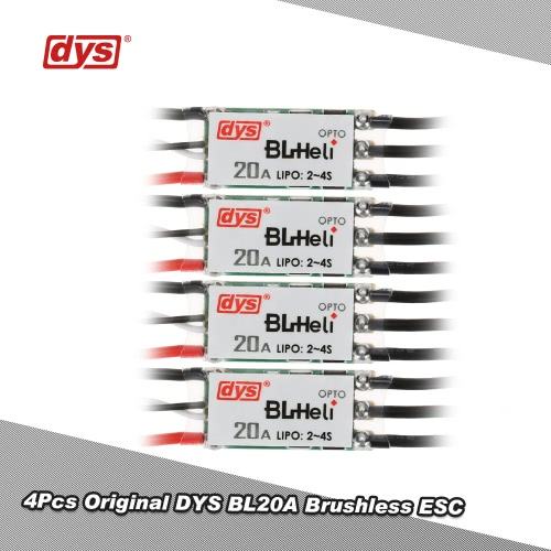 4Pcs Original DYS BL20A Mini 20A BLHeli Brushless ESC OPTO 2-4s LiPo for QAV250 Racer 250 FPV Racing Drone RC QuadcopterMotor<br>4Pcs Original DYS BL20A Mini 20A BLHeli Brushless ESC OPTO 2-4s LiPo for QAV250 Racer 250 FPV Racing Drone RC Quadcopter<br><br>Blade Length: 11.0cm