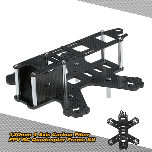 Buy 130mm 4 Axis Carbon Fiber FPV RC Quadcopter Frame Kit