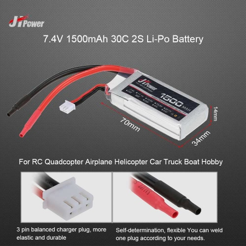 JHpower 7.4V 1500mAh 30C 2S Li-Po Battery for  RC Quadcopter Airplane Helicopter Car Truck Boat HobbyOther RC Battery<br>JHpower 7.4V 1500mAh 30C 2S Li-Po Battery for  RC Quadcopter Airplane Helicopter Car Truck Boat Hobby<br><br>Blade Length: 15.7cm