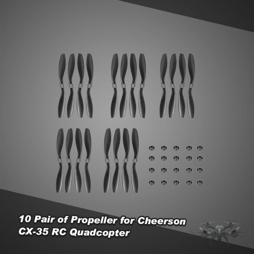 10 Pair of CW/CCW Propeller for Cheerson CX-35 RC QuadcopterCheerson Multicopter Parts<br>10 Pair of CW/CCW Propeller for Cheerson CX-35 RC Quadcopter<br><br>Blade Length: 22.0cm