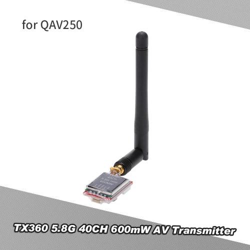 TX360 5.8G 600mW 40CH Wireless FPV AV Transmitter with 5V Output for Racer 250 QAV250 Aerial Photography RC QuadcopterImage Transmission<br>TX360 5.8G 600mW 40CH Wireless FPV AV Transmitter with 5V Output for Racer 250 QAV250 Aerial Photography RC Quadcopter<br><br>Blade Length: 9.5cm