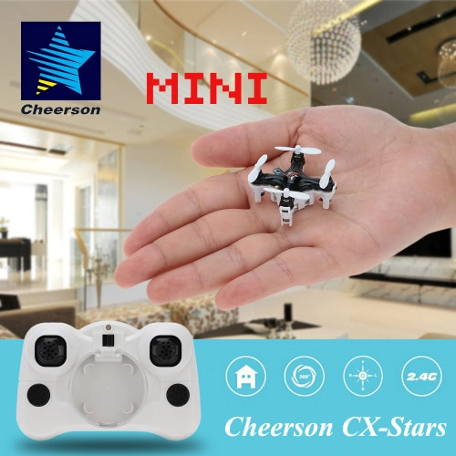 Original Cheerson CX-Stars Mini 2.4G 4CH 6 Axis Gyro RC Quadcopter UFO Drone with 3D Flips Headless ModeCheerson<br>Original Cheerson CX-Stars Mini 2.4G 4CH 6 Axis Gyro RC Quadcopter UFO Drone with 3D Flips Headless Mode<br><br>Blade Length: 13.0cm