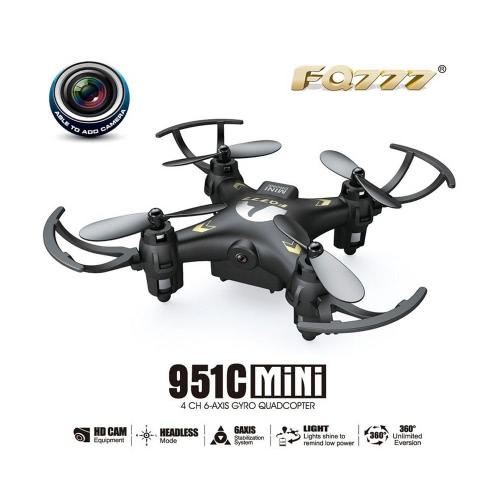 Original FQ777 951C 2.4GHz 4CH 6-Axis Gyro 0.3MP Camera Mini RC Quadcopter RTF with Headless Mode 3D-flipRC Quadcopter<br>Original FQ777 951C 2.4GHz 4CH 6-Axis Gyro 0.3MP Camera Mini RC Quadcopter RTF with Headless Mode 3D-flip<br><br>Blade Length: 19.5cm