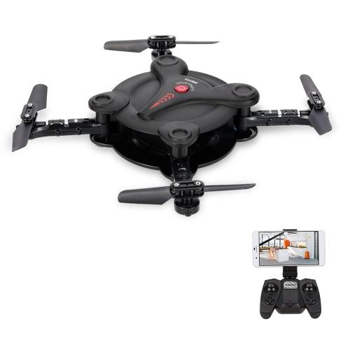 Fq777 fq17w mini wifi fpv drone foldable pocket rc quadcopter - black...