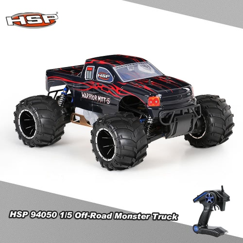 Original HSP 94050 Off-Road 1/5 2.4Ghz 2CH 4WD RTR 32CC Gasoline Powered Monster Truck Car RM6160UK