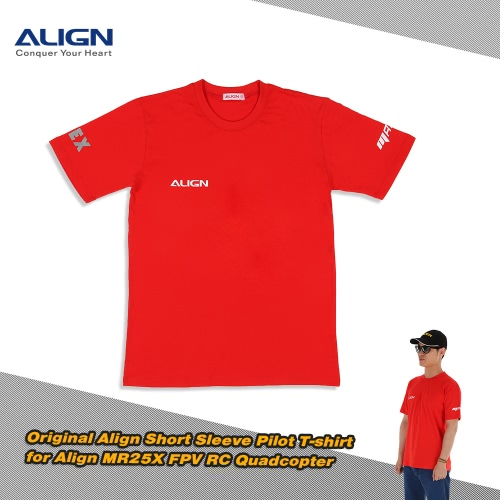 Original Align HOC00218 Short Sleeve T-Shirt for Align MR25X FPV RC QuadcopterRC Helicopter<br>Original Align HOC00218 Short Sleeve T-Shirt for Align MR25X FPV RC Quadcopter<br><br>Blade Length: 33.5cm