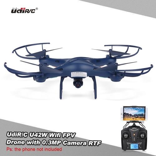Original udir/c u42w petrel wifi fpv 0.3mp camera rc quadcopter altitude hold...