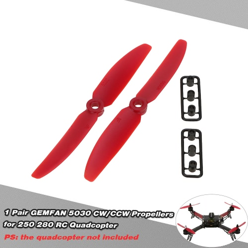 1 Pair GEMFAN 5030 CW/CCW Propellers for QAV250 H250 280 RC QuadcopterMulticopter Propellers<br>1 Pair GEMFAN 5030 CW/CCW Propellers for QAV250 H250 280 RC Quadcopter<br><br>Blade Length: 12.8cm