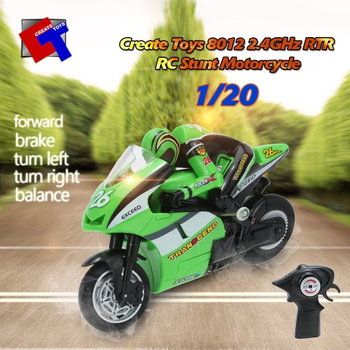 Original Create Toys 8012 1/20 2.4GHz RTR RC Motorcycle Stunt