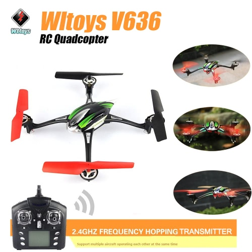 Original Wltoys Super Stable Flight Quadcopter Toy V636 2.4G 4CH 6-axis Gyro W/Headless Mode/LED Light RM1832