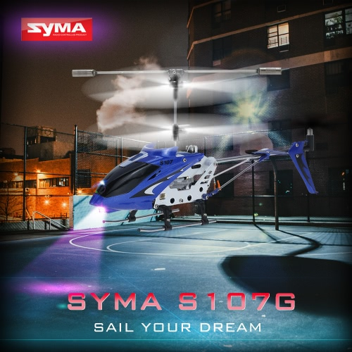 Syma S107G R/C Helicopter S107G BlueSyma Multicopter<br>Syma S107G R/C Helicopter S107G Blue<br><br>Blade Length: 42.0cm