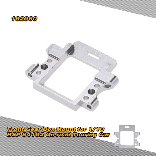 102060 Upgrade Parts Aluminum Alloy Front Gear Box Mount for 1/10 HSP 94102 4WD On-road Nitro Gas Powered Touring Car RM2525S
