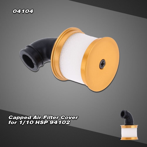 04104 Upgrade Parts Alum Capped Air Filter Cover for 1/10 Nitro Power 4WD 94102 On-road Touring 94106 Off-road Buggy 94108 Monster Buggy