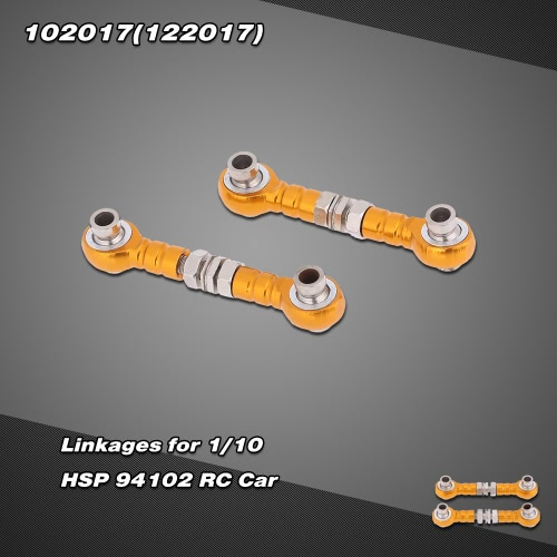 102017(122017) Upgrade Parts Aluminum Alloy Linkages for 1/10 HSP RC Car 94102 Nitro Powered On-road Touring Car RM2529G