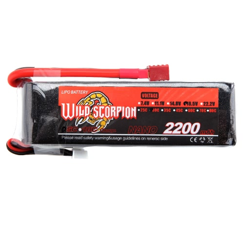 Wild Scorpion 18.5V 2200mAh 30C MAX 40C 5S T Plug Li-po Battery for RC Car Airplane Helicopter Part от Tomtop.com INT