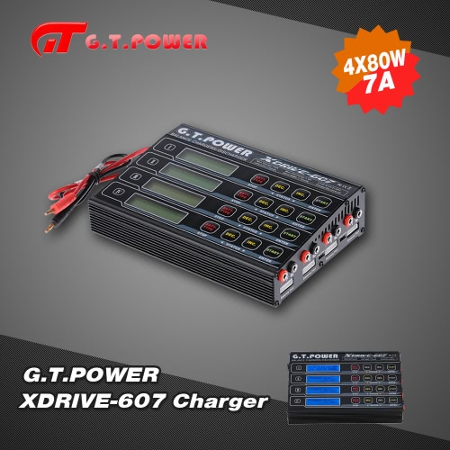 G.T.POWER X-DRIVE 607 4*80W LiIo/LiPo/LiFe/NiMH/NiCD Battery Balance Charger/DischargerCharger &amp; Adaptor<br>G.T.POWER X-DRIVE 607 4*80W LiIo/LiPo/LiFe/NiMH/NiCD Battery Balance Charger/Discharger<br><br>Blade Length: 26.0cm