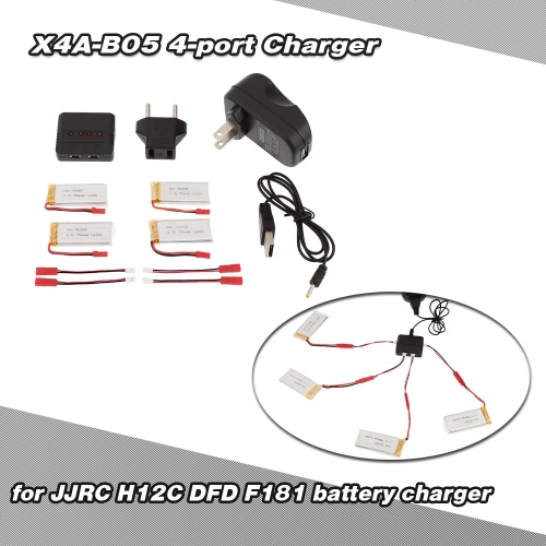 Super Fly 4-port Fast Charger Sets with 3.7V 750mAh Lipo Battery for RC Helicopter / Quadcopter JJRC H12C DFD F181 MJX X400JJRC Multirotors Parts<br>Super Fly 4-port Fast Charger Sets with 3.7V 750mAh Lipo Battery for RC Helicopter / Quadcopter JJRC H12C DFD F181 MJX X400<br><br>Blade Length: 14.5cm
