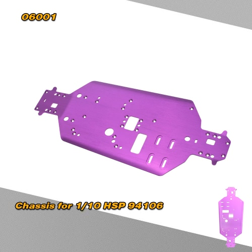 06001 Upgrade Parts Aluminum Alloy Chassis for 1/10 HSP 94106 94108 Off-road Buggy RC Cars