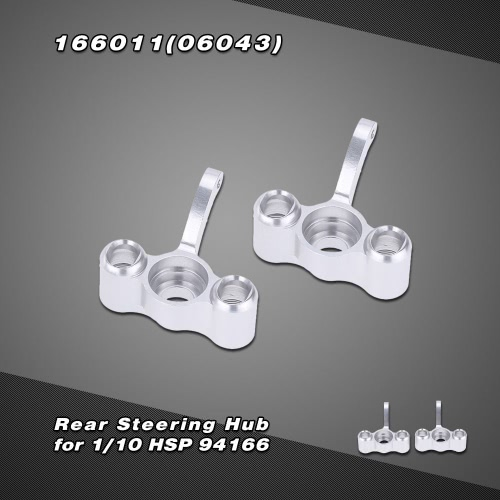 166011(06043) Upgrade Parts Aluminum Rear Steering Hub for 1/10 HSP 94166 4WD Off-road Buggy Backwash