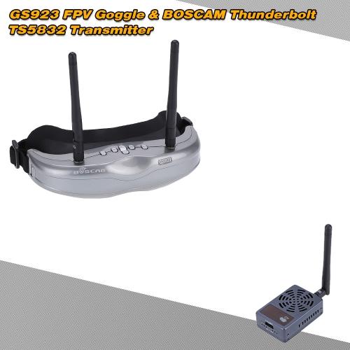 BOSCAM Thunderbolt TS5832 5.8G 2000mW 32CH Wireless Transmitter+GS923 5.8G 32CH FPV Goggle RC Set RM3687