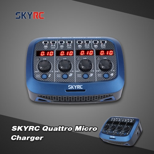 Original SKYRC Quattro Micro 4*4W 4*1S Lipo Battery Charger For RC Helicopter Quadcopter BatteryCharger &amp; Adaptor<br>Original SKYRC Quattro Micro 4*4W 4*1S Lipo Battery Charger For RC Helicopter Quadcopter Battery<br><br>Blade Length: 17.0cm