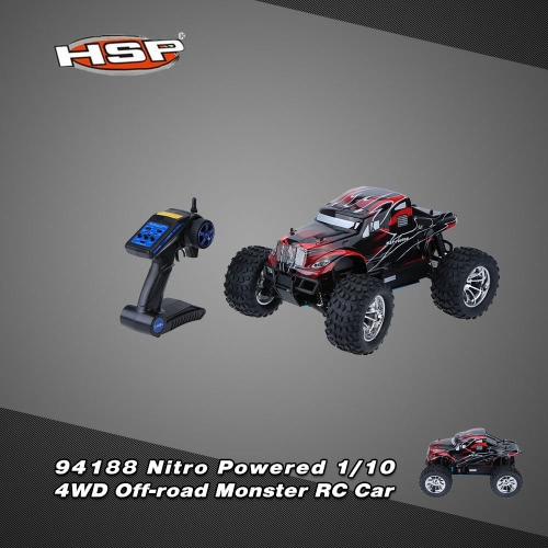 Original HSP 94188 2.4Ghz 2CH Transmitter Nitro Powered 18CXP 1/10 RTR 4WD Off-road Monster RC Car
