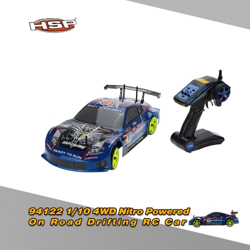Original HSP 94122 1/10 4WD Nitro Powered On Road Drifting RTR RC Car RM3803