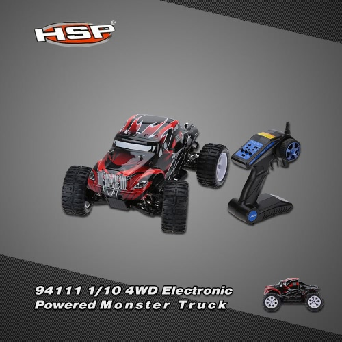Original HSP 94111 1/10 4WD Electronic Powered Brushed Motor RTR Monster Truck RC Car