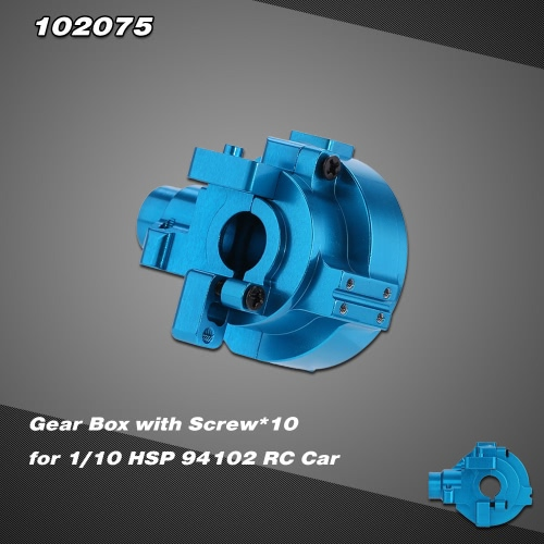 102075 Upgrade Part Aluminum Alloy Gear Box for 1/10 HSP RC Car 94102 Nitro Powered On-road Touring Car 94110 Nitro Powered Off-road Truggy RM3840BL