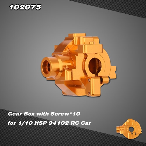 102075 Upgrade Part Aluminum Alloy Gear Box for 1/10 HSP RC Car 94102 Nitro Powered On-road Touring Car 94110 Nitro Powered Off-road Truggy RM3840G