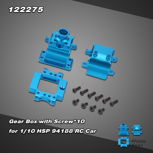 122275 Upgrade Part Aluminium Alloy Gear Box for 1/10 HSP 94122 94188 Nitro Powered Off-road Buggy