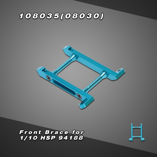 108035(08030) Upgrade Part Aluminum Alloy Front Brace for 1/10 HSP 4WD 94188 Nitro Gas Power Off Road Monster Truck