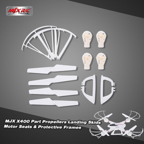 Original MJX X400 Part Propellers Landing Skids Motor Seats and Protective Frames for MJX X400 RC QuadcopterAirplane Toys Parts<br>Original MJX X400 Part Propellers Landing Skids Motor Seats and Protective Frames for MJX X400 RC Quadcopter<br><br>Blade Length: 16.0cm