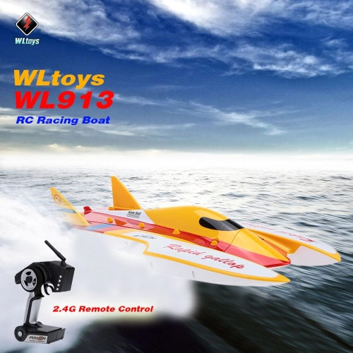 Buy Original WLtoys WL913 2.4G Remote Control Brushless Motor Water-Cooling System High Speed 50km/h RC Racing Boat