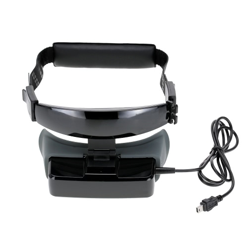 Vision-600 80inch Widescreen 3D Goggles Headset 430 * 240 TFT LCD Video Glasses Support Virtual Retinal Display for FPV Aerial Photography RM4738US