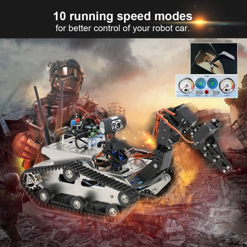 Buy THRobotEx Wifi Smart DIY Crawler RC Robot Tank Manipulator 1.3MP HD Camera Support PC Mobile Phone Control Monitoring