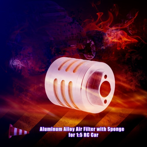 Aluminum Alloy Air Filter with Sponge for 1:5 HPI Baja 5b Rovan Nitro Powered RC Car