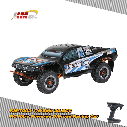 KM-T003 1/5 Baja 30.5CC RC Nitro Powered Off-road Racing Car with MT-3D 3-Channel 2.4G Transmitter